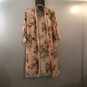 Floral long cardigan/kimono cover by Forever 21